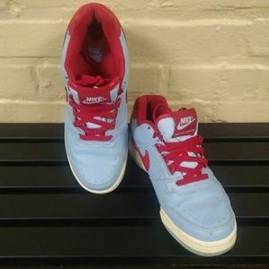 Nike Blue/Red Leather Sneakers- Size 8
